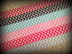 Chevron Single Colors 1 Inch Collar