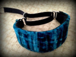 Hound Collar - Smokey Blue Velvet