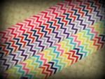 Chevron Multi Colors 1 Inch Collar