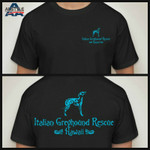 IG Rescue Hawaii Logo T-Shirt Black with Teal Logo