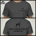 IG Rescue Hawaii Logo T-Shirt Charcoal Grey with Black Logo