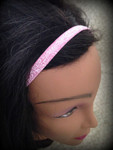 Shaka Girl Headband - Shimmer Soft Pink 3/8""