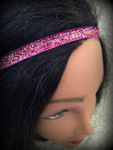 Shaka Girl Headband - Shimmer Pink/Orange 3/8""