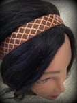 Shaka Girl Headband - Kanani Brown/Orange 1""