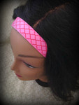Shaka Girl Headband - Kanani Pink/Orange 1""