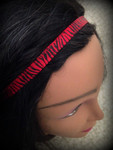 Shaka Girl Headband - Zebra Red/Black 3/8""