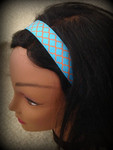Shaka Girl Headband - Kanani Turquoise/Orange 1""