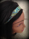 Shaka Girl Headband - Lava Flow Teal 1""