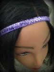 """Shaka Girl Headband - Shimmer Orchid 3/8"""""""