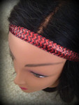 Shaka Girl Headband - Chevron Shimmer Red/Black 3/4""