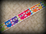 Chevron Owls 1 Inch Collar