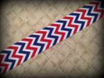 4th of July Chevron 1 Inch Collar