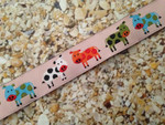 Colorful Cows 3/4 Inch Collar