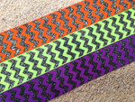 Halloween Chevron Glitter 1 Inch Collar