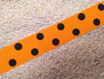 Halloween Polka Dots 1 Inch Collar