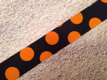Halloween Silly Dots 1 Inch Collar