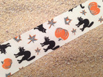 Black Cats and Pumpkins 1 1/2 Inch Collar