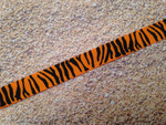 Orange Tiger 1/2 Inch Collar