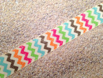 Autumn Whimsy Glitter Chevron 1 Inch Collar