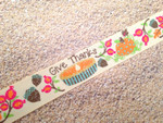 Autumn Whimsy Glitter Give Thanks 1 Inch Collar