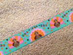 Autumn Whimsy Glitter Turkey Talk 1 Inch Collar