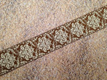 Autumn Whimsy Glitter Damask 1 Inch Collar