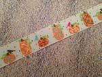 Autumn Whimsy Glitter Elegant Pumpkins 1 Inch Collar