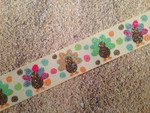 Autumn Whimsy Glitter Turkeys 1 Inch Collar