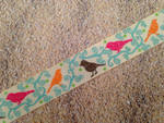 Autumn Whimsy Glitter Sparrows 1 Inch Collar