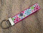 Keychain Wristlet - Merry & Bright Glitter Snowflakes 9""