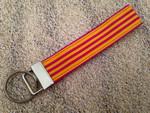 """Keychain Wristlet - Mango Stripe 9"""""""