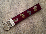Keychain Wristlet - Holly Jolly Stockings 10""