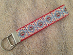 Keychain Wristlet - Sock Monkey Red 10""
