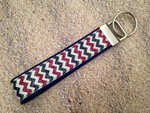 Key Leash - Antique 4th of July Chevron 9""