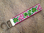 Key Leash - Lucky Me Shamrock Glitter 9""