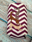 Can Koozie - Stacked Hounds Plum/White Chevron