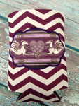Can Koozie - Angel Heart Hounds Plum/White Chevron