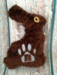 Chocolate Easter Bunny Dog Toy