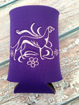 Can Koozie - Elegant Hound Purple