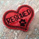 Collar Glam - RESCUED Red Glitter