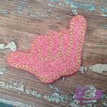 Collar Glam - Shaka Pink Glitter