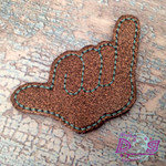 Collar Glam - Shaka Brown Glitter