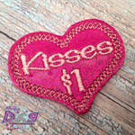 Collar Glam - Kisses For Sale Hot Pink Glitter with Light Pink