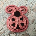 Collar Glam - Ladybug Hearts