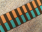 Autumn Harvest Stripes 1 Inch Collar