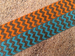 Autumn Harvest Chevron 1 Inch Collar
