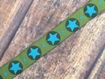 Turquoise Stars 3/4 Inch Collar
