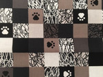 Custom Shaka Shield Bellyband - Doodle Paws Black/White