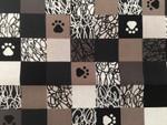 Custom Shaka Shield Bellyband - Doodle Paws Black/White