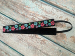 Shaka Girl Headband - Hibiscus Flowers Black 1""